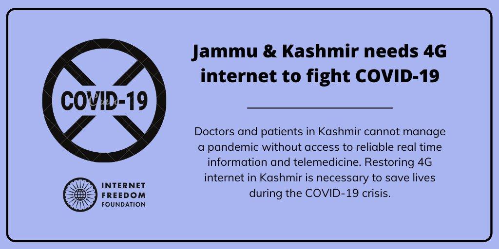 We write to the J&K Govt and MHA seeking immediate restoration of 4G internet services in Jammu & Kashmir.   https://t.co/YVNsT8U1pG https://t.co/qXdZTk2ZLG
