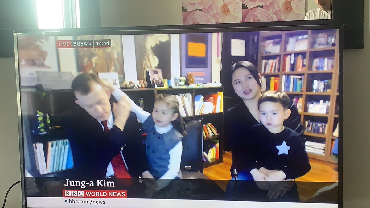 The most famous working from home family on the planet are now live on BBC World