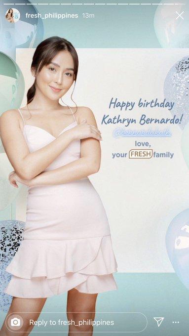 Happy birthday Kathryn Bernardo! -Fresh Philippines