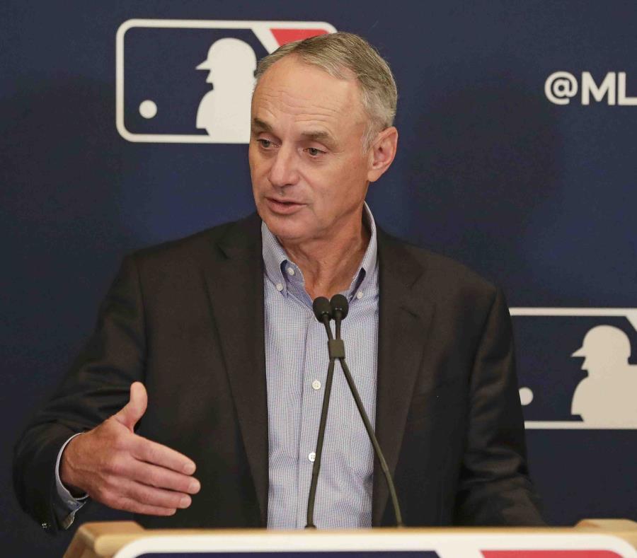 Manfred se ha visto muy optimista en cuanto al tema de cuándo volverá la MLB.