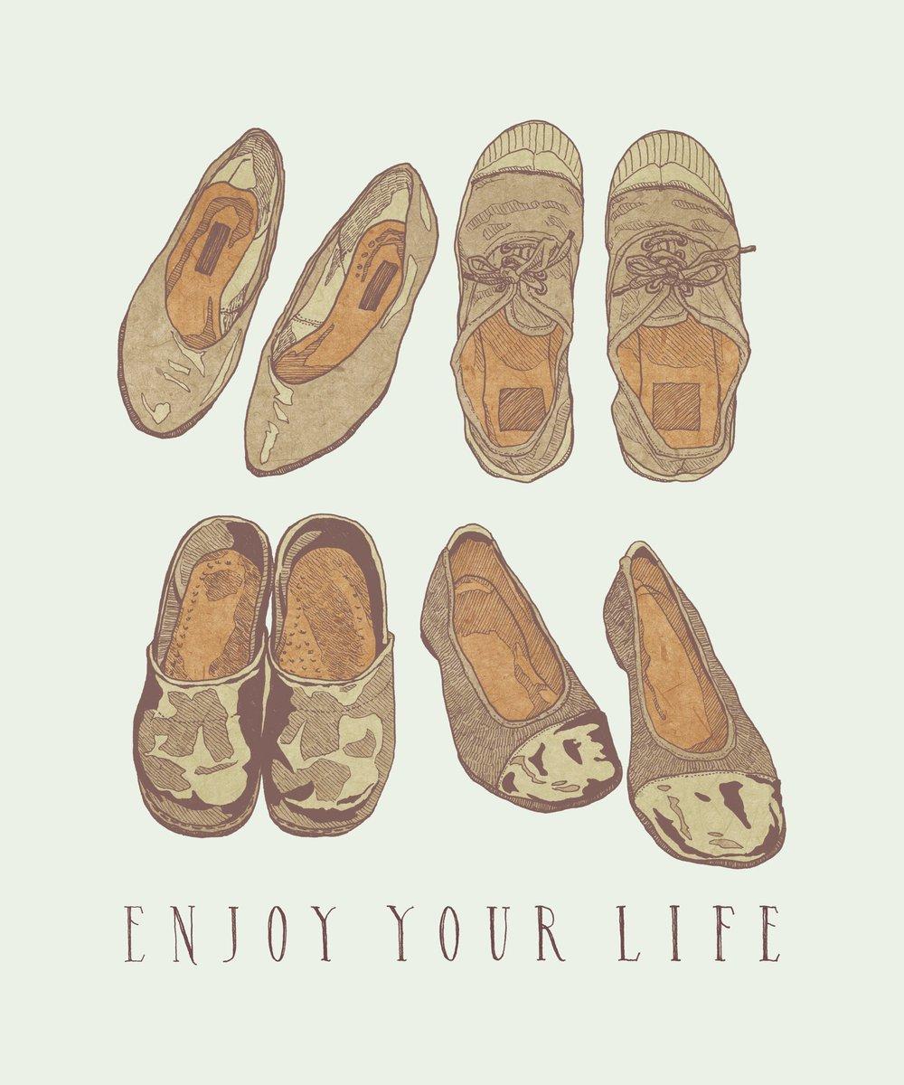 "ENJOY YOUR LIFE . ""put on your favorite shoes"" . . . #illustration #artwork #drawing #bensimon #dansko #일러스트 #아트 #イラスト #アートワーク #グラフィックデザイン #ファッションイラスト #ガールズイラスト #絵pic.twitter.com/zf4fwClHYL"