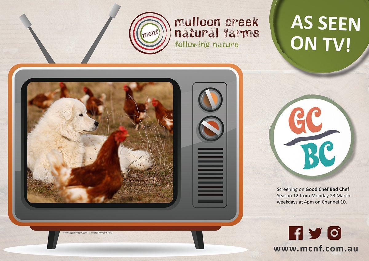You'll be able to spot our nutritious freerange, certified organic and biodynamic #MulloonCreekNaturalFarms eggs in several upcoming episodes of Good Chef Bad Chef this season! On air now, weekdays from 4pm on Channel 10.  #mullooncreekeggs #organiceggs #biodynamic pic.twitter.com/ljFL04EbtU
