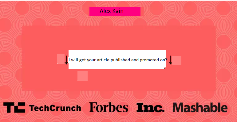 i will get your article publish and featured on techcrunc,forbes,inc and masable and other top website.#AlcoholFreeSA #Bac2020 #BelanjaDariRumah #CoronaVirusInNigeria #Covid19Out #COVID19 #coronavirusinlagos #DisneyPlusUK #Ghana #Nigeria just click  http:// herewww.fiverr.com/alexkain594     <br>http://pic.twitter.com/yyW3wALGUf