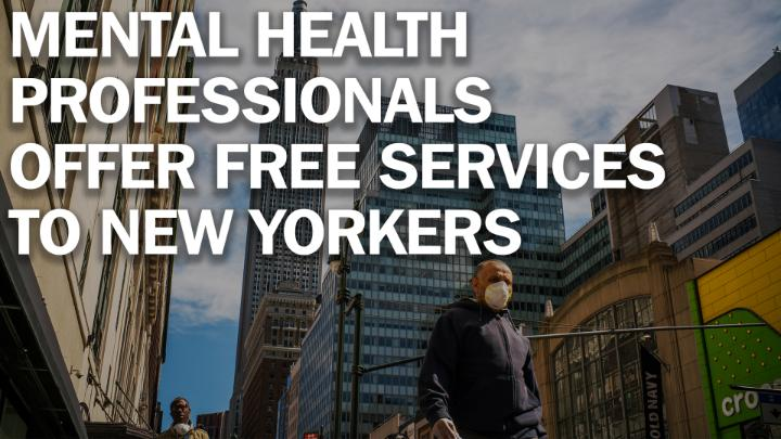 """""""Don't underestimate the emotional trauma that people are feeling and the emotional health issues."""" New York Gov. Andrew Cuomo says 6,175 mental health professionals volunteered to offer free services to struggling New Yorkers https://ti.me/3bvhixZ"""
