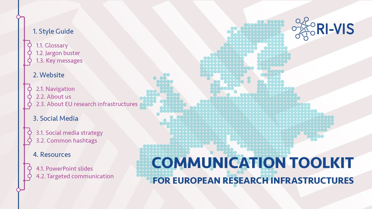 Good news for communications experts in #ResearchInfrastructures. The Communication Toolkit for #EU_RIs realized in the frame of the @RI_VIS_eu project is online! ☀️https://t.co/4Vg3X1yxft@essneutron @esrfsynchrotron @EGI_eInfra @ILLGrenoble @EuropeanXFEL @CERICnews @ELI_laser