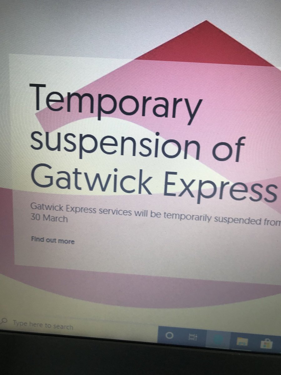 Gatwick Express suspended from Monday