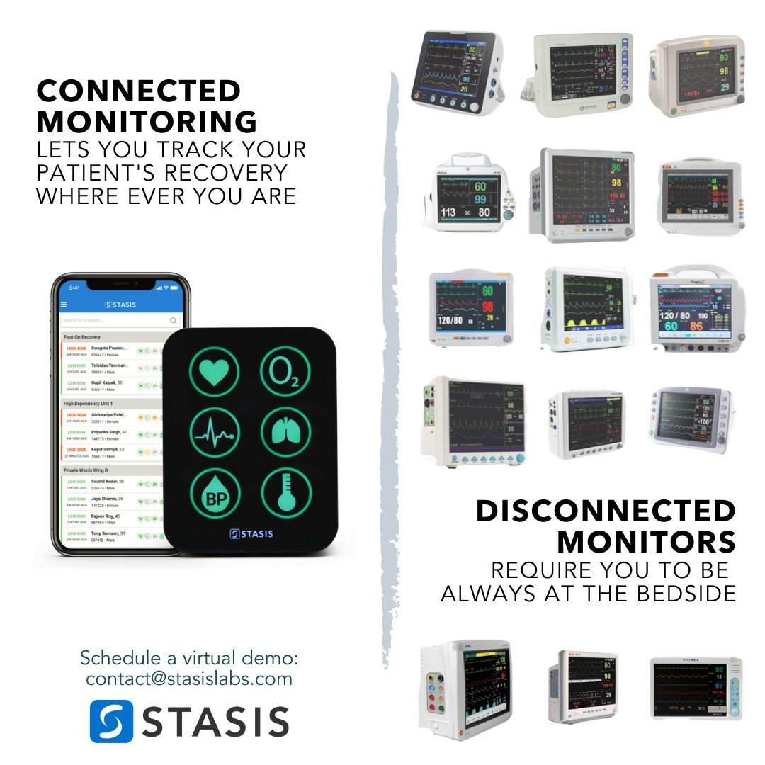 Whats the difference between a connected monitor and a standard monitor? Well, whats the difference between a smartphone and a dumb phone?  #stayconnected  #staysafe  #covid19  #connectedcare