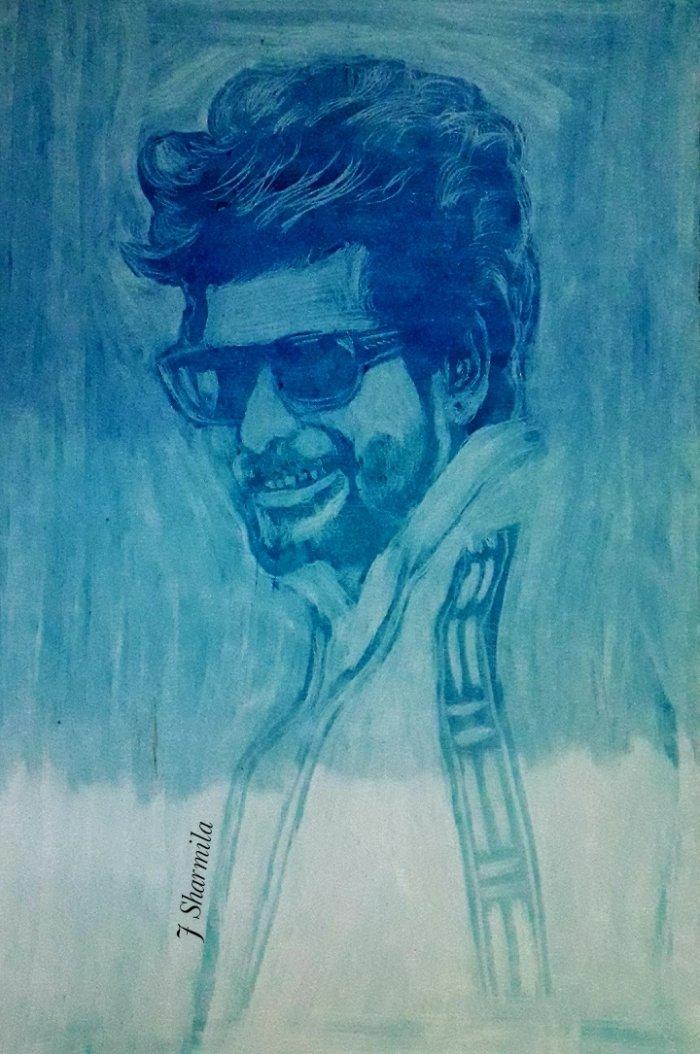 ACTOR @Siva_Kartikeyan Anna  MY ART  #Sivakarthikeyan #Sk #Hero #art  #prince @AllIndiaSKFC @Online_SkFc @Sk_24x7_offl #oilpastel pic.twitter.com/V0bxmYF8o4