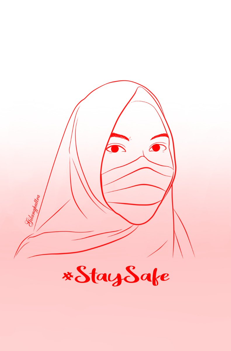 """Stay Safe Everyone""  In frame: @irksaid   #StaySafe #COVID19 #redsketch #rdmsketch @wataboku_pic.twitter.com/gRBCxSXfcn"