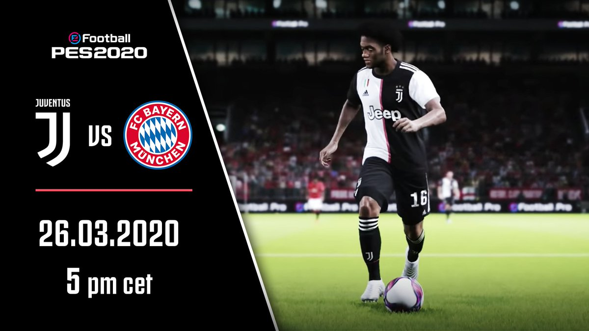 🎮 PICK UP THOSE JOYPADS! 🤝 Friendly 🆚 @fcbayernesports  🏠 At home  ⏰ 17:00 CET 🔴 LIVE on http://YouTube.com/Juventus   ICYMI: Team Juventus' season so far on our Esports playlist ⏯ http://juve.it/JzCw30qsCj1   @Konami @officialpes @eFootballPro