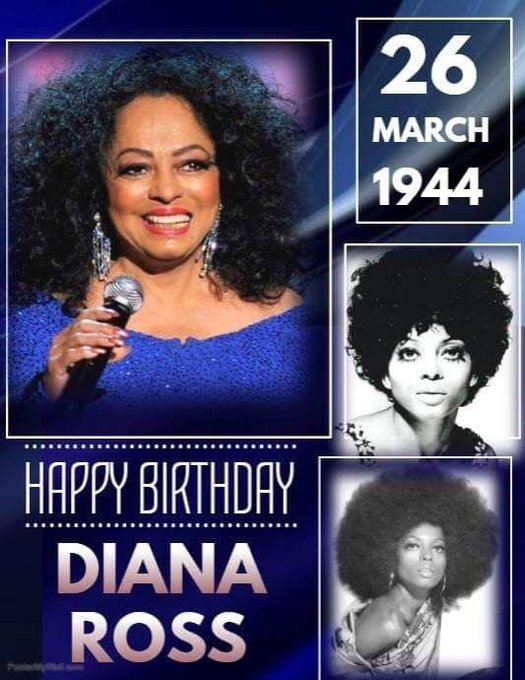 Happy 76th Birthday Ms. Diana Ross!!! So thankful I was able to see you at The Fox before this pandemic.