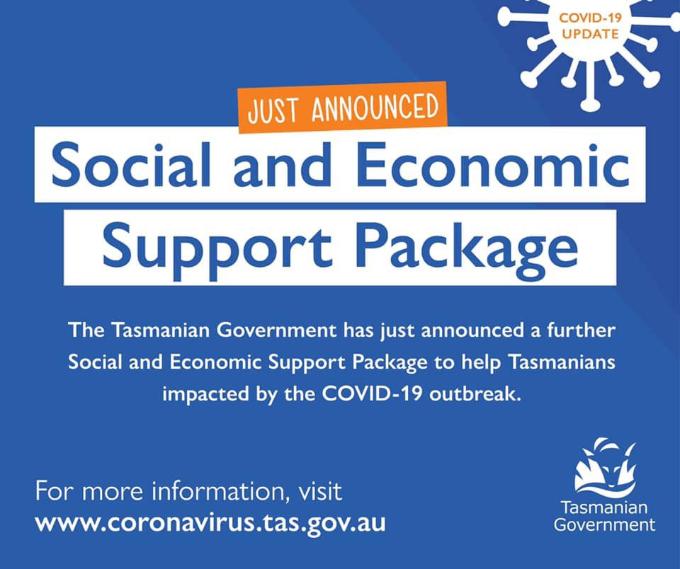 This is the most significant support package for Tasmanians in the history of our state - almost $1 billion. Stay home, save lives and we will get through this together. For more information, visit coronavirus.tas.gov.au/stimulus-and-s…