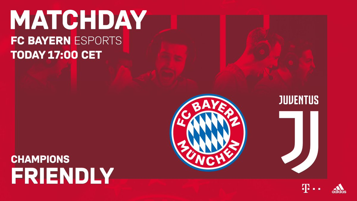 TIME TO PLAY 🎮! 🔴⚪ #packmas  ⏰ Heute 17.00 Uhr 🆚 Juventus Turin 📺 Livestream ⏩ http://twitch.tv/fcbayernesports  #fcbayernesports #FCBayern #esports