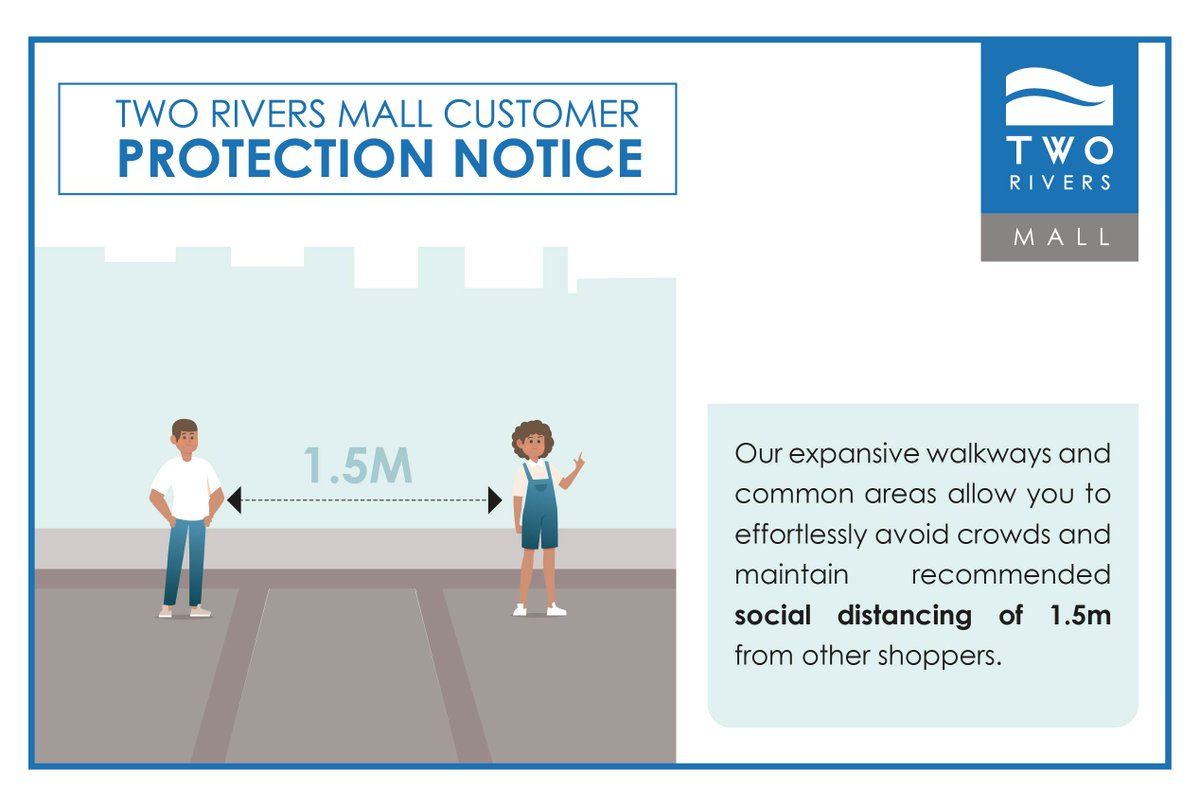 Social distancing is emphasized as one of the ways to prevent the spread of COVID-19. Let us all practice maintaining 1.5 meter distance to not only protect ourselves but all those around us as you do your essential shopping. #WeCareForYou