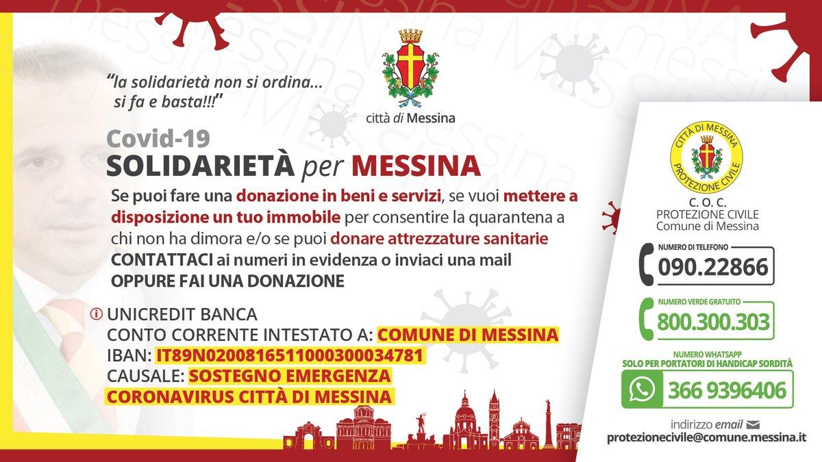 PER DISTRUGGERE IL CORONAVIRUS HO BISOGNO ANCHE DEL TUO AIUTO!  RIPRENDIAMOCI LA NOSTRA VITA!  Condividete in massa questo accorato appello! Segreteria del sindaco 335.7626026 #SolidarietaPerMessina #CatenoDeLuca #Messina #EMERGENZACOVID19