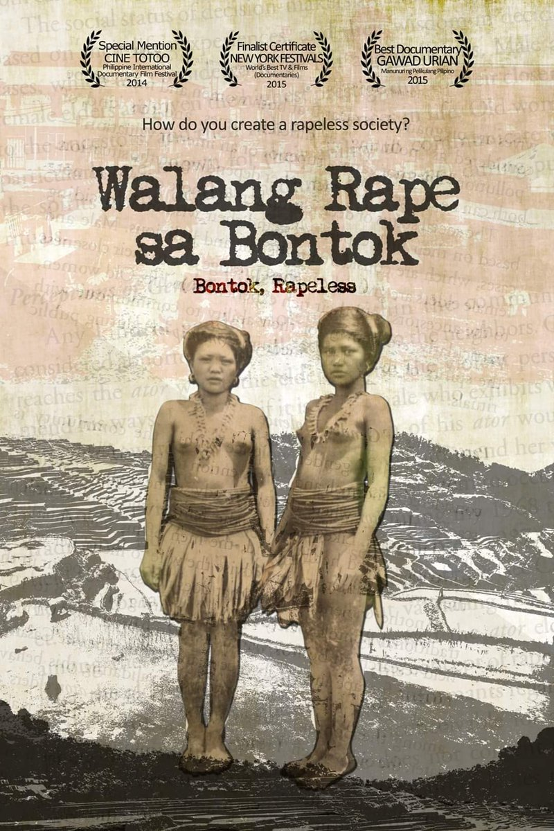 #LockdownCinema: Free online film screening of WALANG RAPE SA BONTOK (2014) [Directors Cut] in observance of National Womens Month. Heres the link: vimeo.com/400805507 Password: EndRapeCulturePH Spread the word! Use the #BontokRapeless and #EndRapeCulturePH 😉