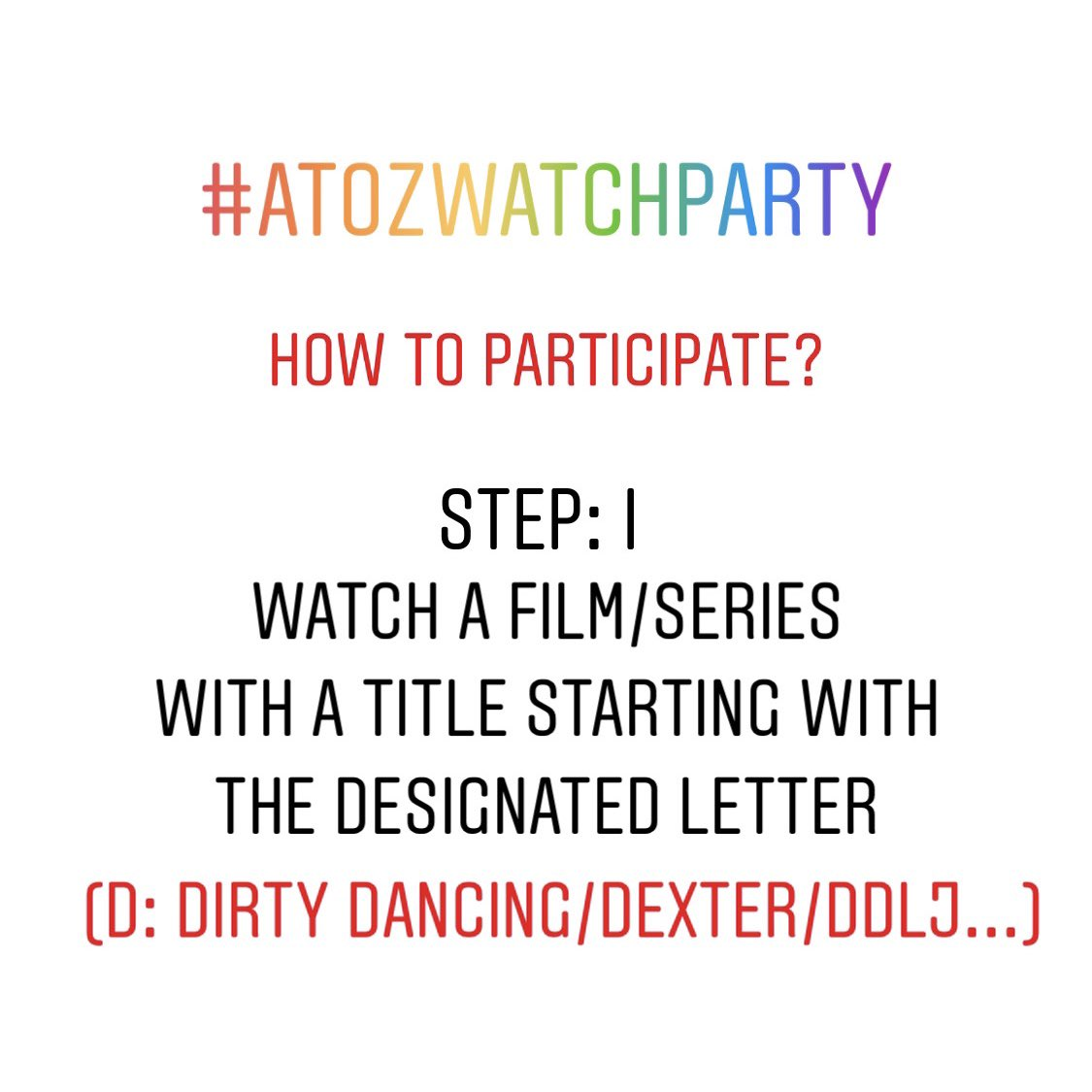 How's #SocialDistancing going for you?  Here's presenting the #AtoZWatchParty to make the most of this lockdown watching movies & series we've been waiting to watch!  Who's joining? Say Aye 🙋🏻‍♀️