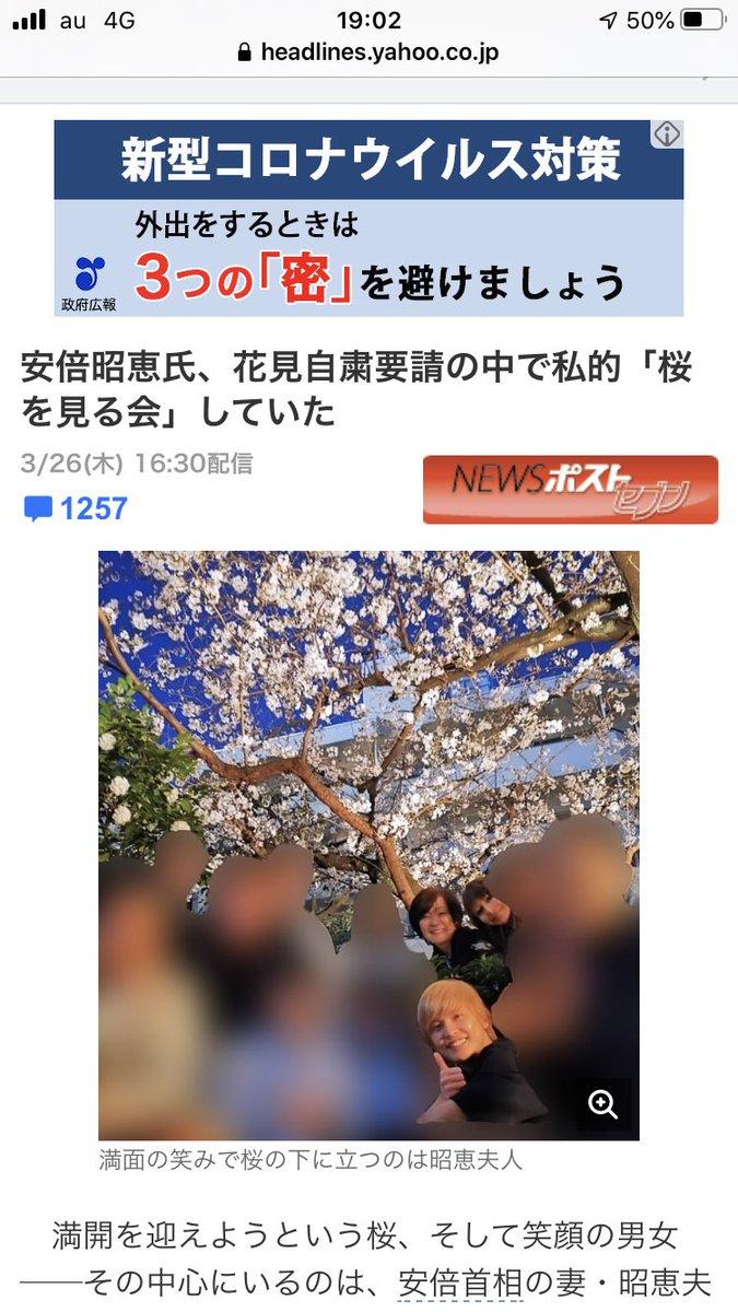 安倍 昭恵 桜