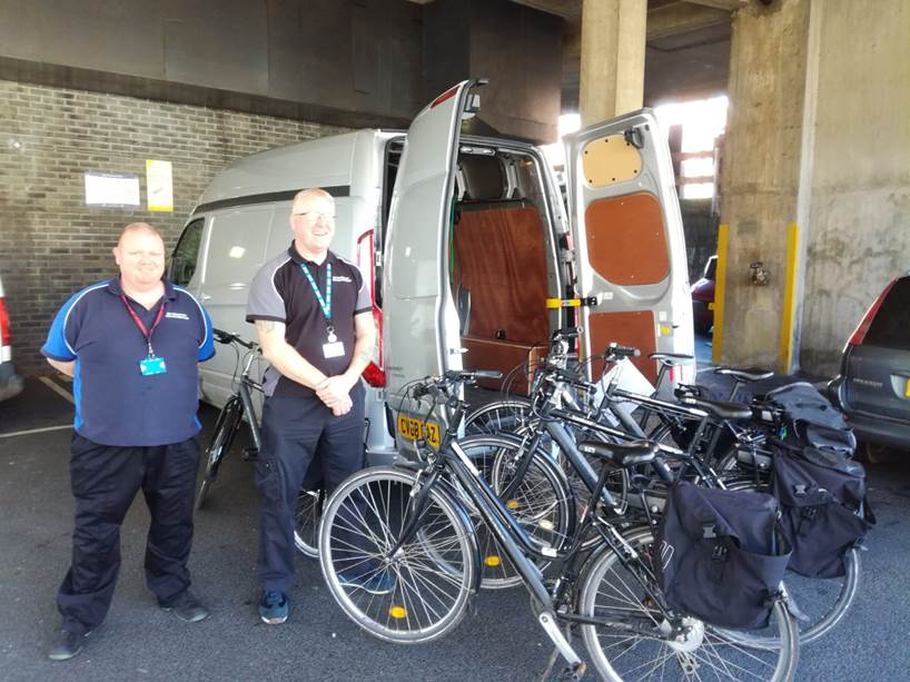 test Twitter Media - Dropping off our loan bikes/e-bikes – 8 in total - for hospital key workers to Universities Hospitals Bristol #coronavirus #proudtocare @UHBristolNHS @travelwestEng https://t.co/dcXWQsECqb