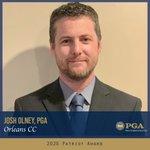 Image for the Tweet beginning: Josh Olney, PGA (Orleans CC)