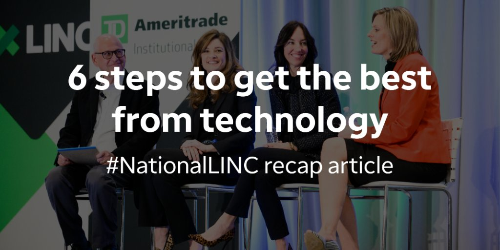 Getting the next big thing isn't always the best way to implement #fintech at your firm. Learn more about how to get the best from technology in this article from #NationalLINC this year.  https://t.co/Umqr31lKcJ https://t.co/Qp8zEMUjT7