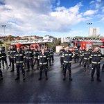 Image for the Tweet beginning: Los bomberos de San Sebastián