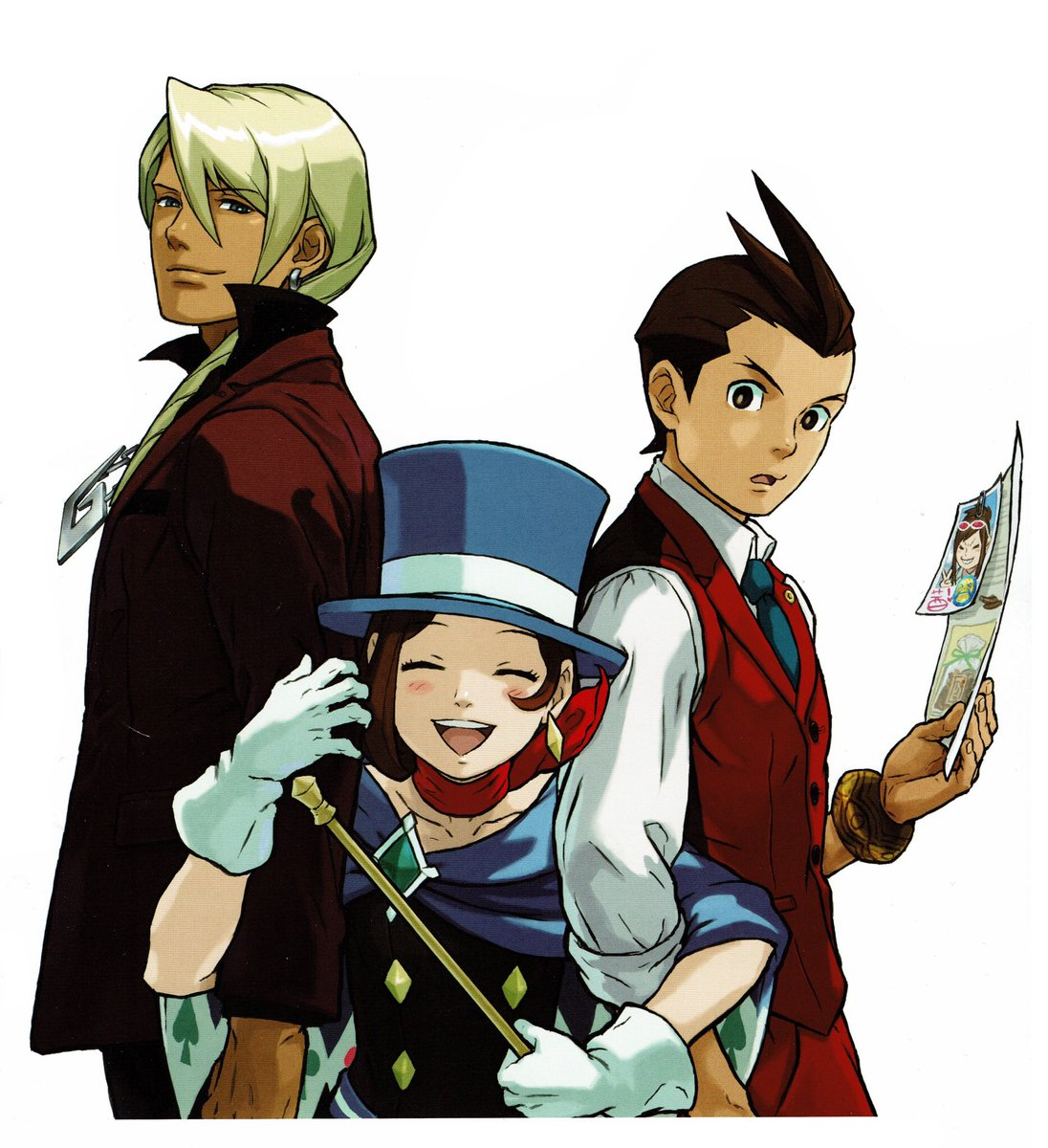 Videogameart Tidbits On Twitter Apollo Justice Ace Attorney Promotional Art