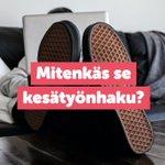 Image for the Tweet beginning: Menikö kesätyönhaku plörinäksi? Ratkaisujatarjolla!🤖 Tee