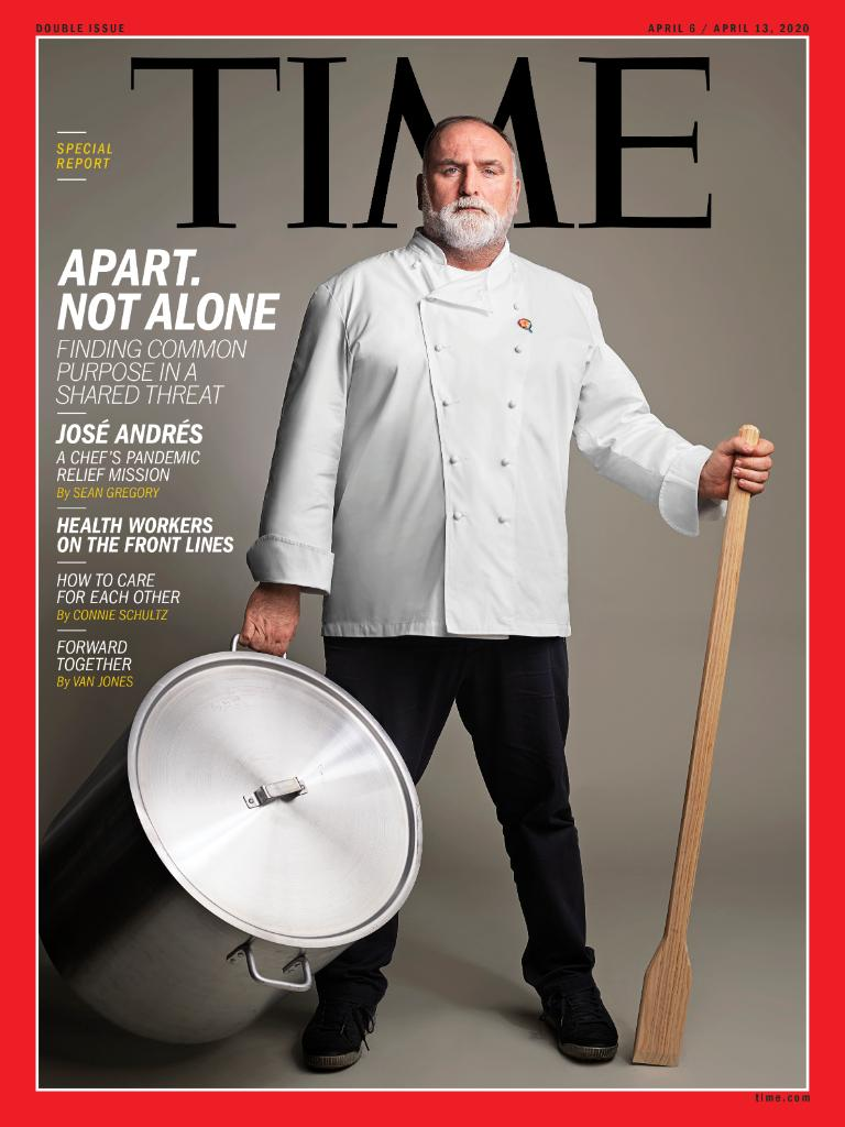 "TIME's new cover: ""Without empathy, nothing works."" Chef José Andrés wants to feed the world through the pandemic https://ti.me/2Uk0zYZ"