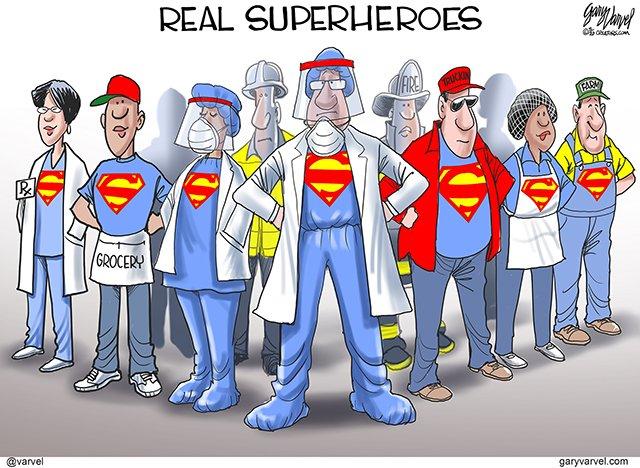 Real Superheroes. #CoronavirusLockdown #StayHomeBands #COVIDー19 #TruckDrivers #NursesCOVID19  garyvarvel<br>http://pic.twitter.com/EUq3t3w60U