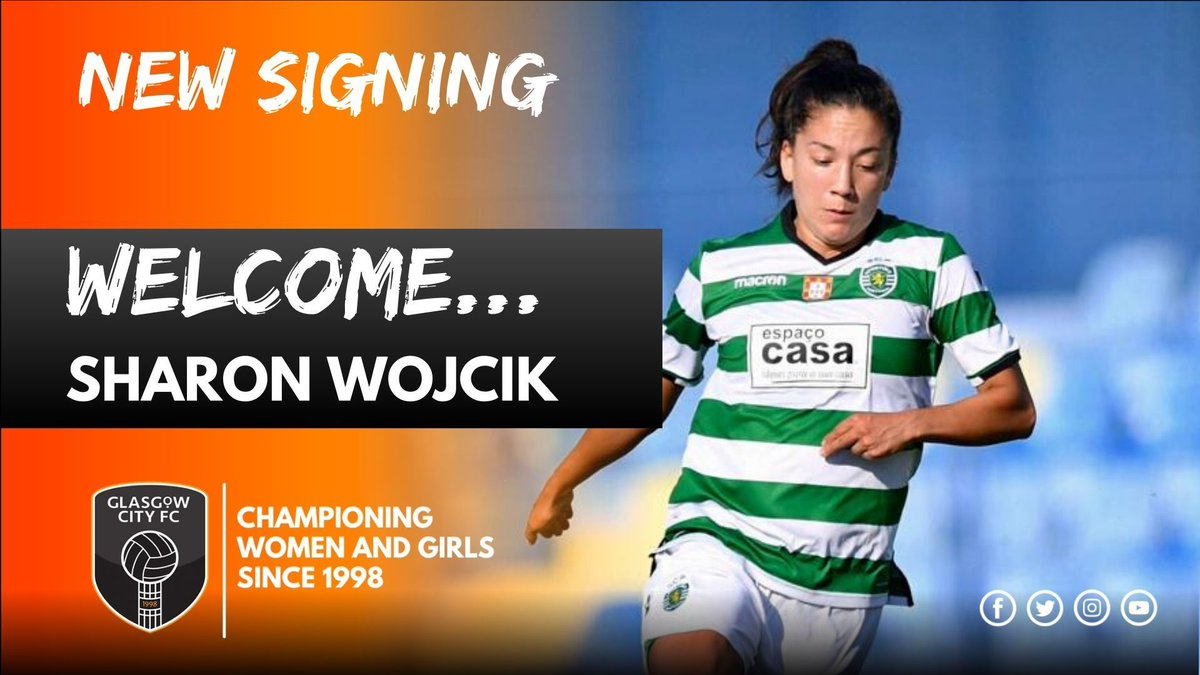 ✍ |  We're pleased to announce the signing of USA midfielder Sharon Wojcik!  🔶 The 26 year old was previously at Sporting Lisbon  🔶 Won 🇵🇹 League and Cup and has @UWCL experience