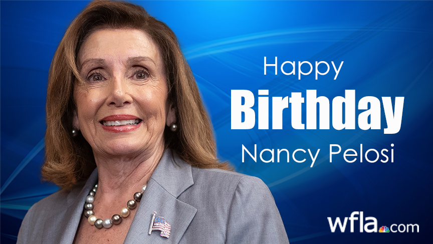 Happy 80th birthday to House Speaker Nancy Pelosi.