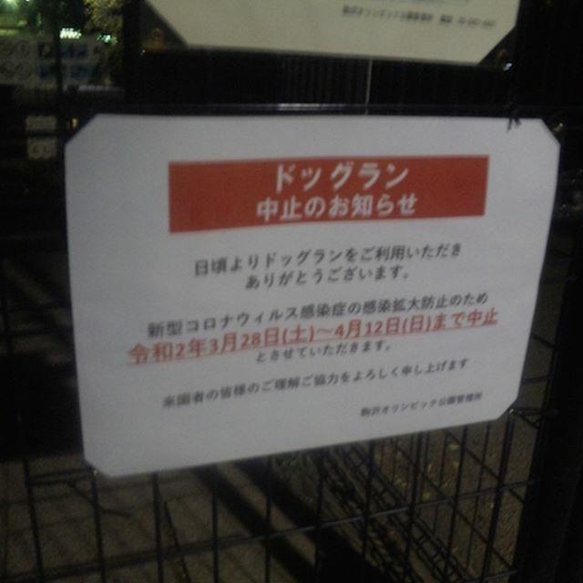 #駒沢公園 #ドッグラン も12日まで閉鎖になるようです。 pic.twitter.com/T7B2dmEIzF