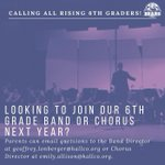 Image for the Tweet beginning: Calling all Rising 6th graders!