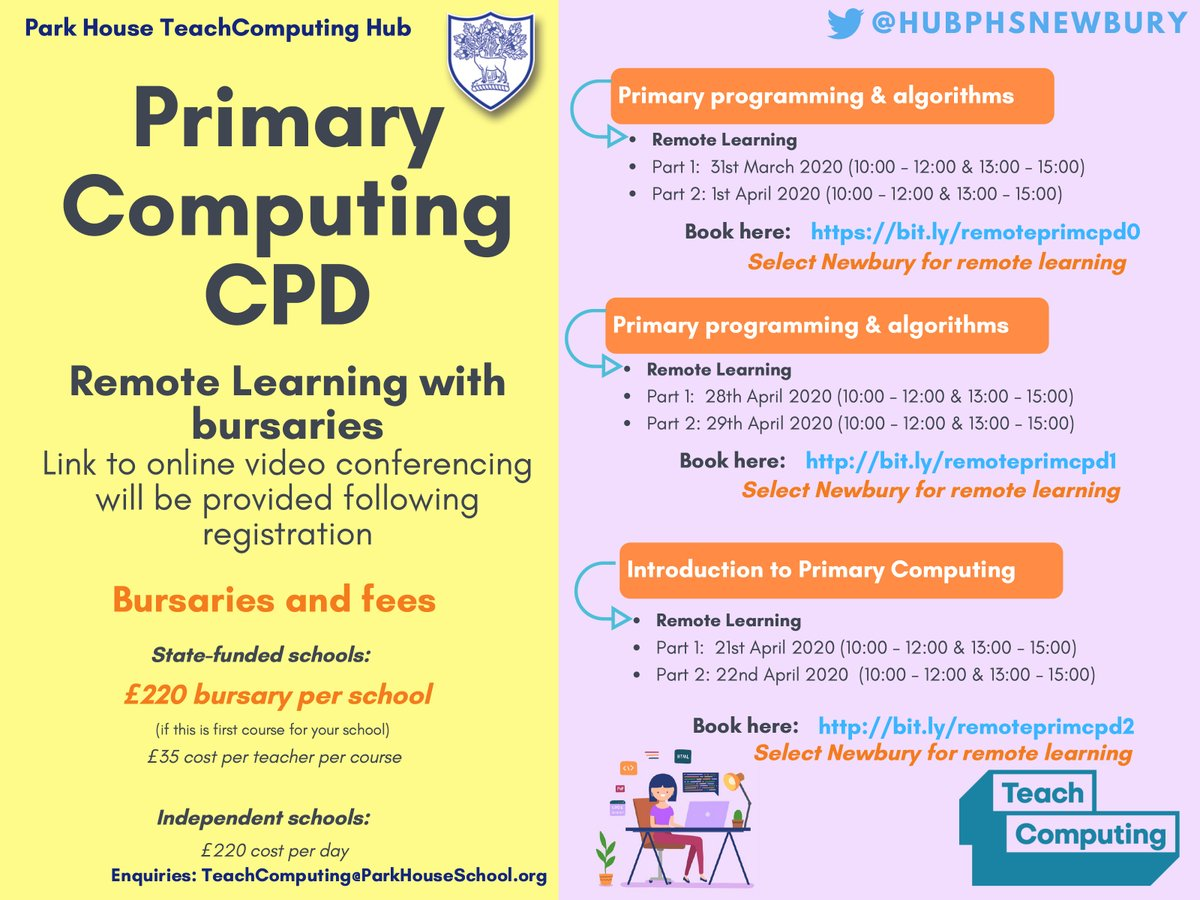 Amazing remote primary computing CPD, fully funded. If any of our alliance schools are interested, please use the contact details below https://t.co/7TW3al2ec5