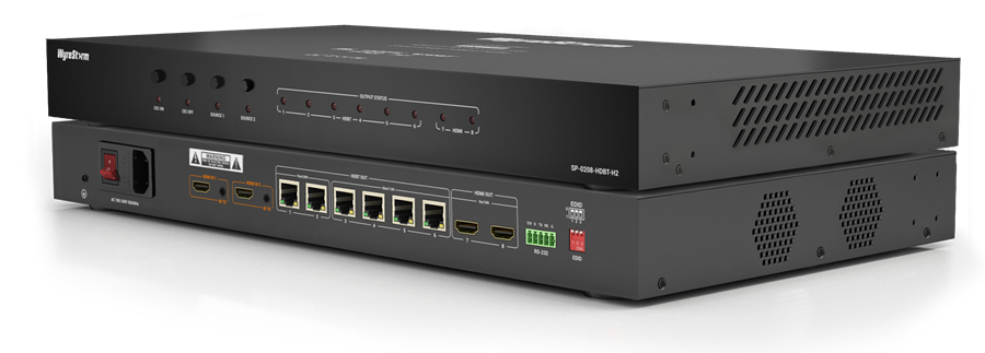 We've packed all of our HDBaseT know-how into the SP-0208-HDBT-H2: a compact, mixed transmission UltraHD splitter that is made for MultiScreen & signage installations, such as in Hospitality & Retail environments. Learn more: https://wyrestorm.com/SP-0208-HDBT-H2  #av #signage #hdbaset pic.twitter.com/XnI9zylejY