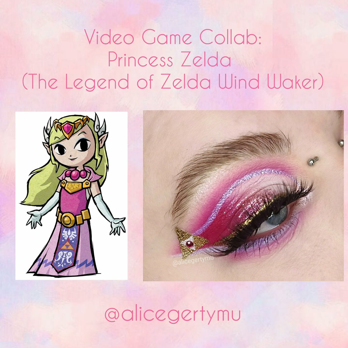 Video Game Collab: Princess Zelda (The Legend of Zelda Wind Waker)  @morphebrushes Jaclyn Hill Volume 2 palette: Dance Party, Lolli Mama and Certified @suvabeauty Hydra Liner @urbandecaycosmetics Heavy Metal liner: Volume @mehronmakeup Metallic Powder  #makeup #undiscoveredmuas pic.twitter.com/IlwCCbIbEo