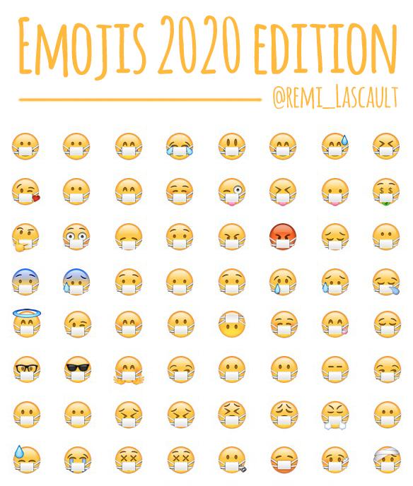 Emojis, 2020 edition. #coronavirus #StayHome  #confinementjour10 <br>http://pic.twitter.com/Mn8SuO1MHP