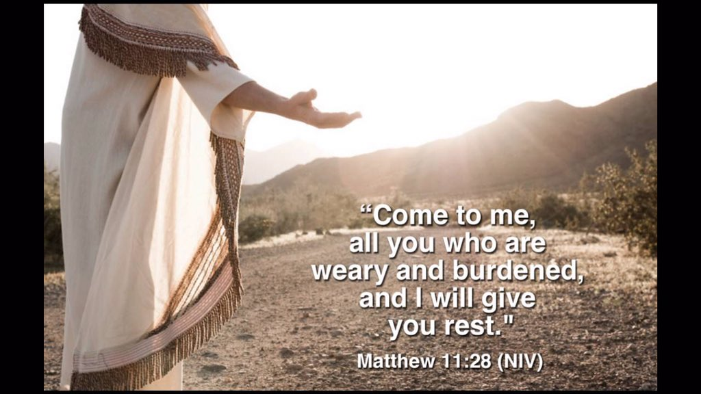 "Anita Narvaez on Twitter: ""Matthew 11:28 (NIV) 28 ""Come to me, all ..."