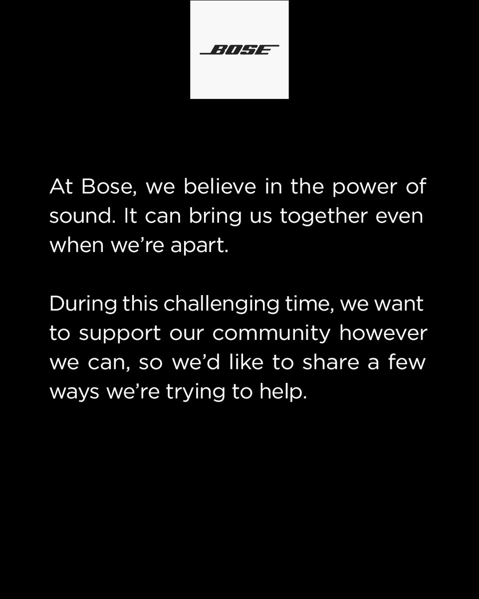 We believe in the power of sound. It can bring us together even when we're apart.