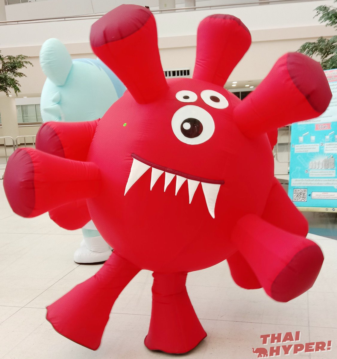 Covid-kun is a new coronavirus mascot from Thailand who teaches kids to wash their hands and social distance.