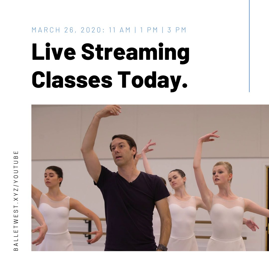 We will be offering live-streaming classes TODAY Thursday, March 26:  11 AM | 1 PM | 3 PM - Find us on our YouTube channel here: https://buff.ly/2QNyFlY  #ballet #balletdancer #balletlife #balletpost #balletshoes #balletclass #ballett #balletphotography #balletdancers #balletboypic.twitter.com/PEzJsh8EJA