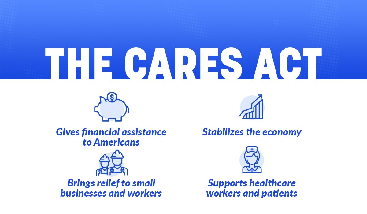 The bipartisan CARES Act will help American families and small businesses in need. ↴