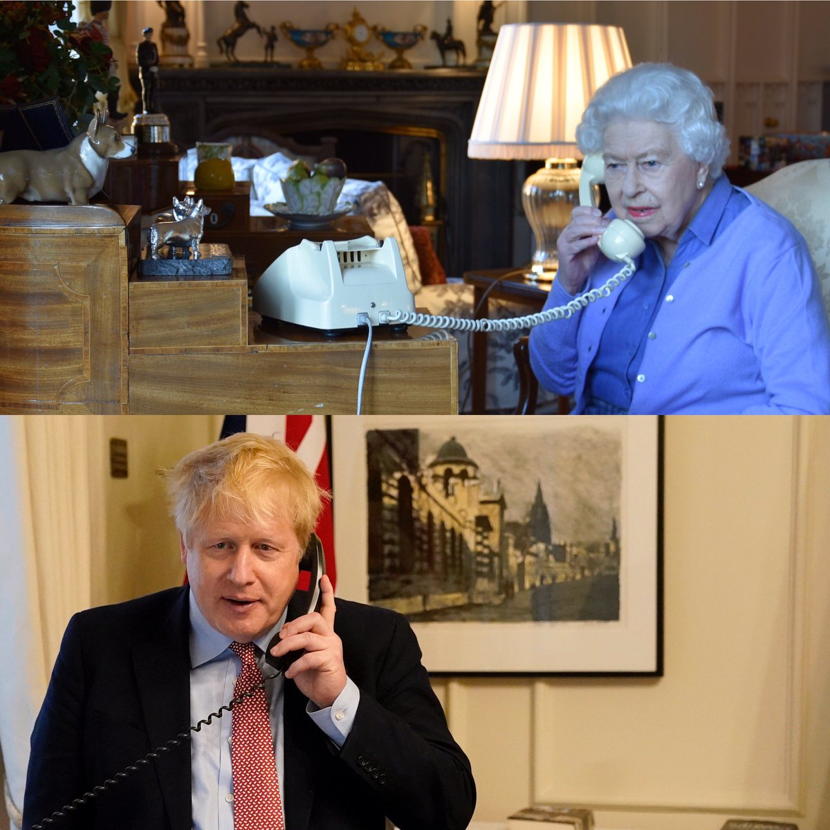#UK's Queen Elizabeth II held a weekly audience with PM @BorisJohnson by telephone because of #COVID19 outbreak from Windsor Castle  @RoyalFamily #QueenElizabeth #ElizabethII #BritishRoyalFamily pic.twitter.com/qAxEYfkurm