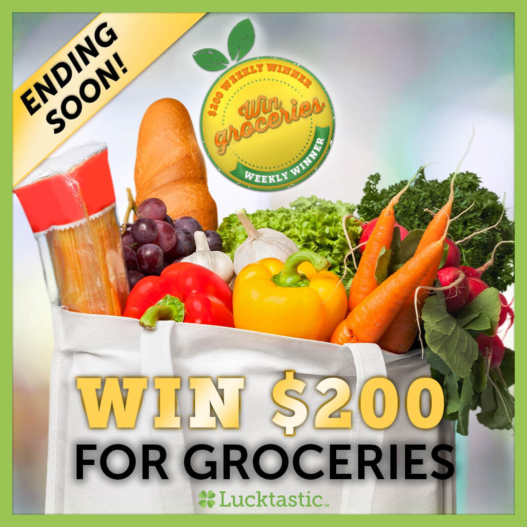 ENDING SOON: Lucktastic is giving away $200 in grocery money to one lucky family🍝 Don't miss out on your chance to get groceries on us. 🛒 Play Lucktastic now to enter.🍀