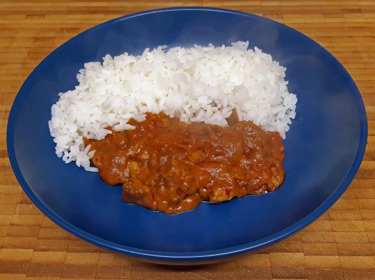 Lamb Rogan Josh with Basmati rice.