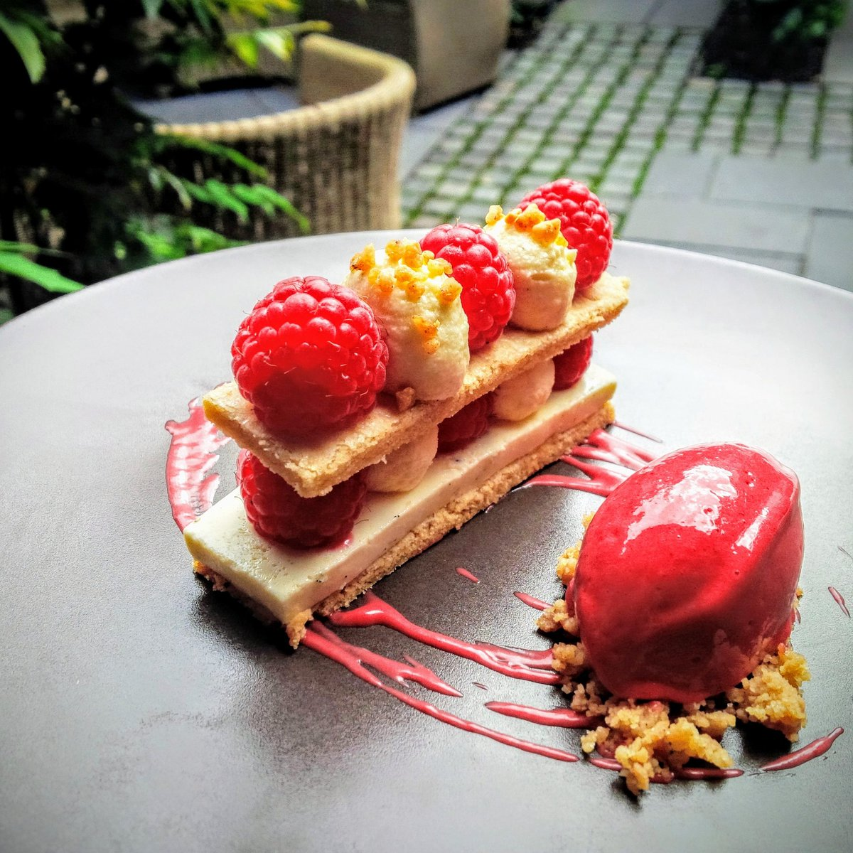 As promised this week we ll only post #dessert photos from the last few years... This one was a Raspberry & White Chocolate! . . #lovindublin #food #lovedublin #restaurant #donnybrook #dublin #dublindining #desserts #dessertpostweek #dessert #pastry #pastrychef #pastrylife #insta