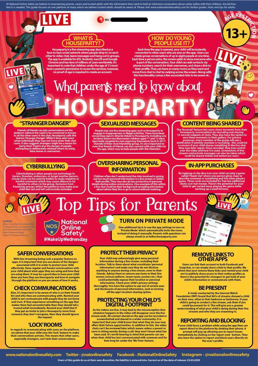 Nyspta On Twitter Have You Heard Of Houseparty The Face To Face Social Network Keeping People Entertained During Lockdown As Current 1 In The App Store Onlinesafety Is Key How Can We Ensure Safe