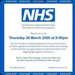 Image for the Tweet beginning: Tonight 8pm #clapforNHS #clapforourcarers