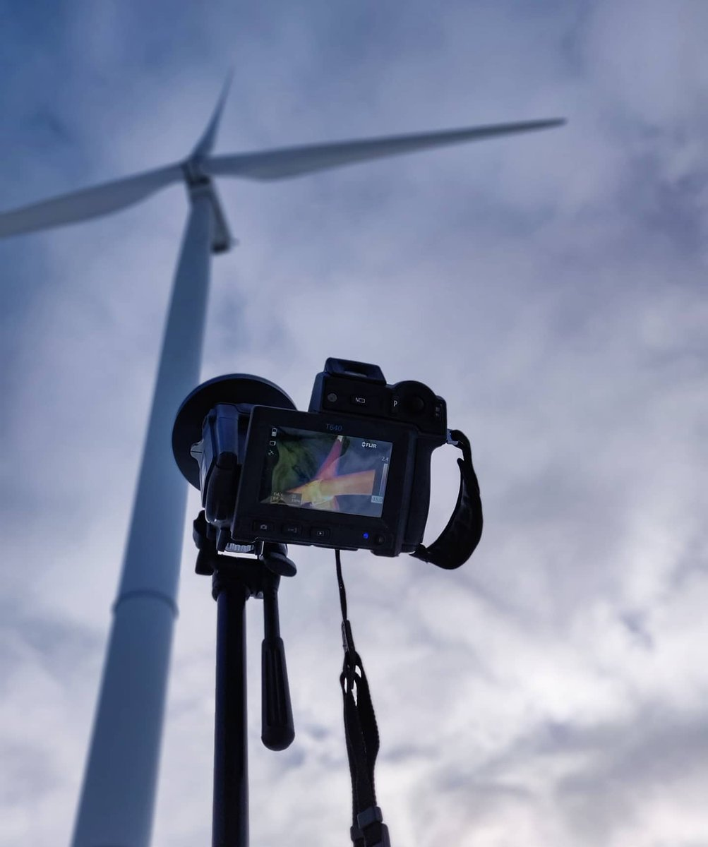 Inspection time! 📷 by jwennstig #FLIR #windturbine #renewableenergy